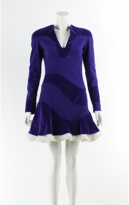 Alexander McQueen Purple Cotton Dress for Women