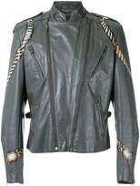 à La Garçonne hand painted biker jacket