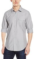 Calvin Klein Men's Cool Tech Long-Sleeve Button-Front Shirt