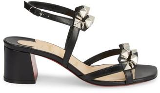 Christian Louboutin Galerietta Studded Leather Sandals