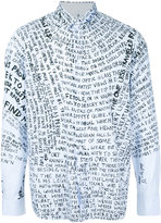 Oamc word print shirt - men - Cotton - M