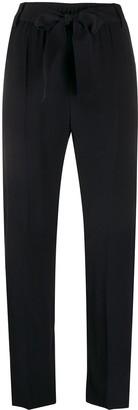 Moncler Tie Belt Straight-Leg Trousers