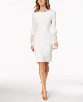 Calvin Klein Petite Chiffon Bell-Sleeve Dress