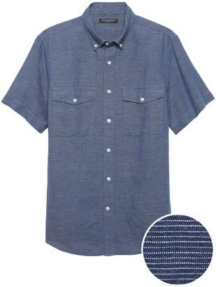 Banana Republic Slim-Fit Cotton-Linen Shirt