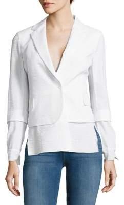 Akris Stella Embossed Textured Jacket
