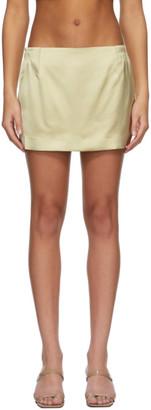 GAUGE81 Taupe Heavy Satin Tulua Miniskirt