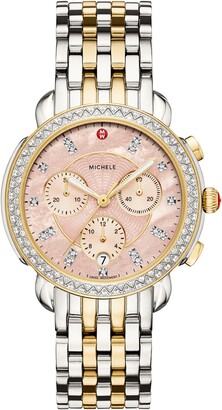 Michele Sidney 18mm Stainless Steel Bracelet Watch Band