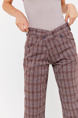 Urban Renewal Vintage Recycled Plaid Crossover Trouser Pant