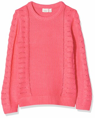 Name It Girl's Nmfnandie Ls Knit Camp Jumper