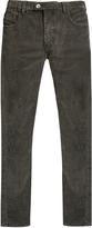 HELBERS Slim-leg cotton-blend corduroy trousers