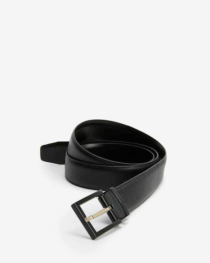 c781f0fa Reversible Textured Strap Gold Prong Buckle Belt