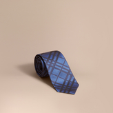 Burberry Modern Cut Check Silk Jacquard Tie, Blue