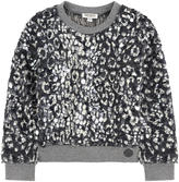 Kenzo False fur sweatshirt with a crackled effect