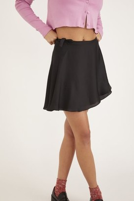 Urban Outfitters Wendy Satin Wrap Skirt