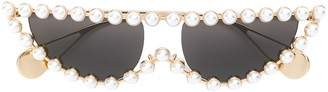 Gucci Pearl Embellished Sunglasses