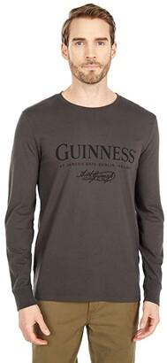 Lucky Brand Guiness Black Long Sleeve Tee (Black Mountain) Men's Clothing
