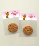 Spark & Spark Pink Baby Reindeer Personalized Treat Bag - Set of 24