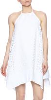 Susana Monaco Eyelet Halter Dress