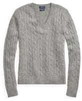 Polo Ralph Lauren Cable Cashmere VNeck Sweater