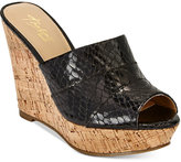 Thalia Sodi Jadey Cork Wedge Sandals, Only at Macy's