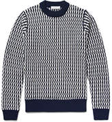 Sandro Cable-knit Wool Sweater - Midnight blue
