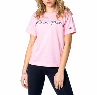Champion Woman T-shirt girocollo logo color 112650 s pink
