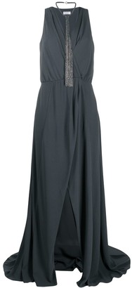 Brunello Cucinelli Wrap Front Gown