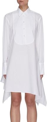 J.W.Anderson Asymmetric Hem Cotton Bib Shirt Dress