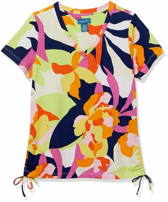 Caribbean Joe Women's Rouched Side Cotton Shirt