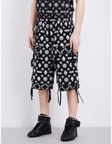 Ktz Monogram-print Cotton Shorts