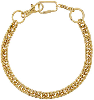 Martine Ali SSENSE Exclusive Gold Utility Choker