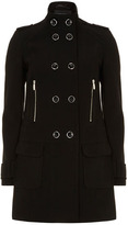 Dorothy Perkins Black twill military coat