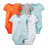 "Carter's Baby Boys' ""Frisbee Pup"" 5-Pack Bodysuits"