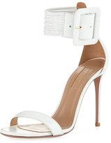 Aquazzura Casa Blanca Lamb Leather Ankle-Cuff Sandal