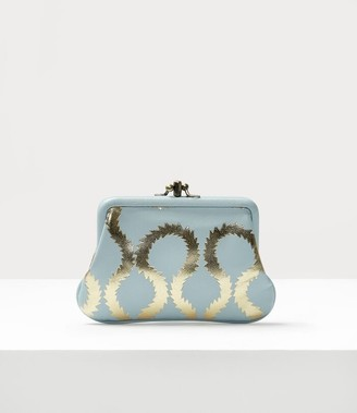 Vivienne Westwood Squiggle Worlds End Double Frame Purse Light Blue