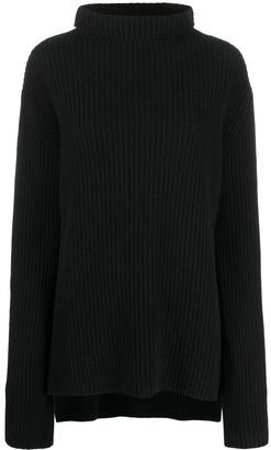 Ann Demeulemeester Ribbed-Knit Virgin Wool Jumper