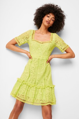 French Connenction Amisha Lace Panelled Dress