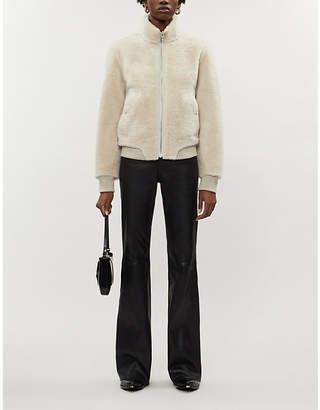 Rag & Bone Jodi cropped suede and leather jacket