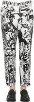 Dolce & Gabbana 17.5cm Musical Mural Printed Linen Pants