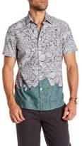 Perry Ellis Luau Print Short Sleeve Regular Fit Shirt