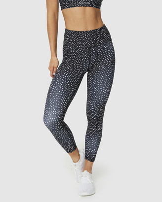 Muscle Republic - Women's Black 7/8 Tights - Inspire Speckle 7-8 Leggings - Size One Size, L at The Iconic