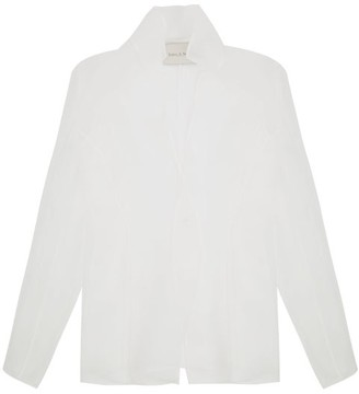 Ludovic de Saint Sernin Single-breasted Silk-organza Jacket - White