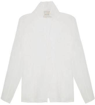 Ludovic De Saint Sernin - Single-breasted Silk-organza Jacket - Womens - White