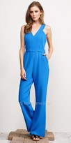 Adelyn Rae Sleeveless Belted Andrea Jumpsuit