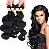 "XC Elegant Beauty hair Brazilian body Wave 4 Bundles/400g 18"" 18"" 20"" 20"" Natural Color Brazilian Remy Human Hair Unprocessed Human Hair Extensions"