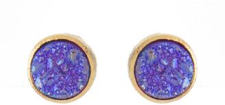 Rivka Friedman 18K Clad Purple Druzy Earrings