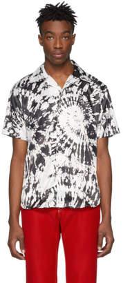 SSS World Corp Black and White Cougar Hawaiian Shirt