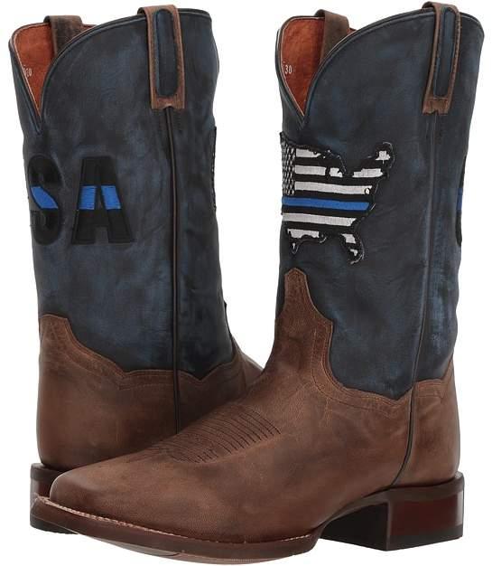 Dan Post Thin Blue Line Cowboy Boots