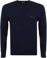 Giorgio Armani Jeans Knitted Crew Neck Jumper Navy