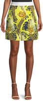 Roberto Cavalli Abstract-Print Mini Skirt